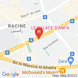 Mapa LE PALACE D'ANFA