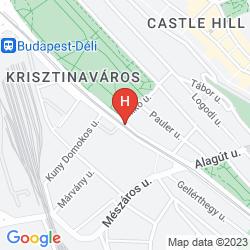 Mapa MERCURE BUDAPEST CASTLE HILL