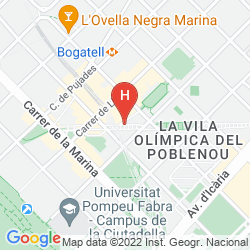 Mapa H10 MARINA BARCELONA