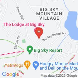 Mapa THE LODGE AT BIG SKY