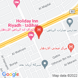 Mapa HOLIDAY INN RIYADH – IZDIHAR
