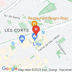Mapa AC HOTEL DIAGONAL L´ILLA