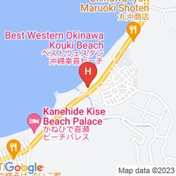 Mapa BEST WESTERN HOTEL OKINAWA KOUKI BEACH