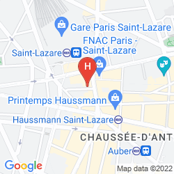 Mapa MERCURE PARIS OPERA GARNIER