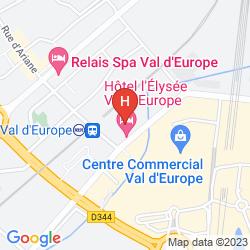 Mapa ELYSEE VAL D'EUROPE