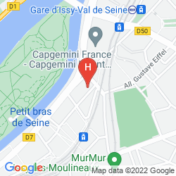 Mapa RESIDHOME PARIS ISSY LES MOULINEAUX
