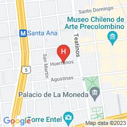 Mapa SANTIAGO CENTRO SUITES