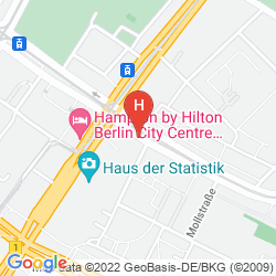 Mapa MERCURE HOTEL BERLIN AM ALEXANDERPLATZ