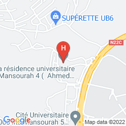 Mapa HOTEL NEDJMA TLEMCEN