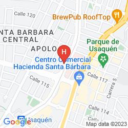 Mapa APART SUITE SANTA BARBARA 120