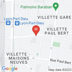 Mapa TEMPORIM LYON PART DIEU