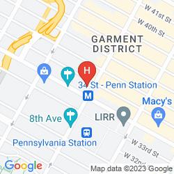 Mapa THE NEW YORKER, A WYNDHAM