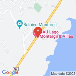 Mapa HOTEL DO LAGO MONTARGIL