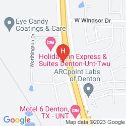 Mapa HOLIDAY INN EXPRESS & SUITES DENTON-UNT-TWU