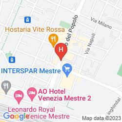 Mapa QUALITY HOTEL DELFINO VENEZIA MESTRE
