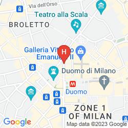 Mapa PARK HYATT MILAN