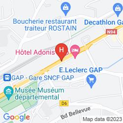 Mapa INTER-HOTEL GAPOTEL