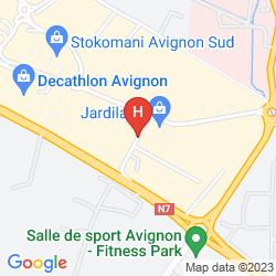 Mapa PREMIERE CLASSE AVIGNON SUD - PARC DES EXPOSITIONS