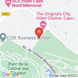 Mapa HÔTEL RESTAURANT INTER-HÔTEL OTELINN