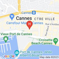 Mapa FIVE SEAS HOTEL CANNES
