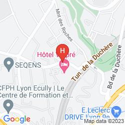 Mapa VALPRÉ LYON HÔTEL