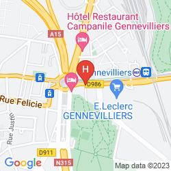 Mapa PREMIÈRE CLASSE PARIS OUEST - GENNEVILLIERS BARBANNIERS