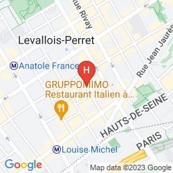 Mapa IBIS PARIS LEVALLOIS PERRET