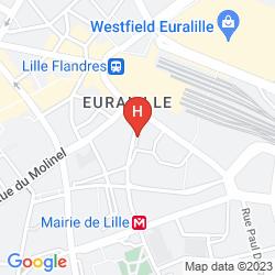 Mapa IBIS LILLE CENTRE GARES