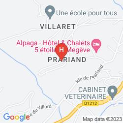 Mapa VACANCES BLEUES LES CHALETS DU PRARIAND