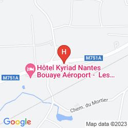 Mapa KYRIAD NANTES BOUAYE - AEROPORT