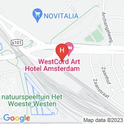 Mapa WESTCORD ART HOTEL AMSTERDAM 4 STARS