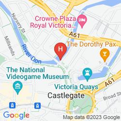 Mapa THE SHEFFIELD METROPOLITAN HOTEL