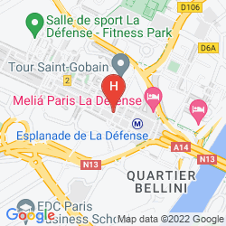 Mapa MELIA PARIS LA DEFENSE