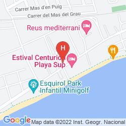 Mapa H10 CAMBRILS PLAYA