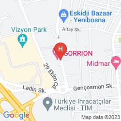 Mapa GORRION HOTEL ISTANBUL