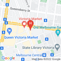 Mapa MERCURE MELBOURNE THERRY STREE