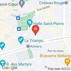 Mapa BELLEVUE PARIS MONTMARTRE