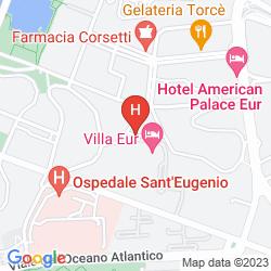 Mapa VILLA EUR - PARCO DEI PINI