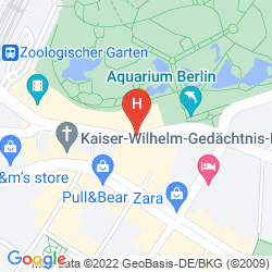 Mapa 25HOURS HOTEL BIKINI BERLIN