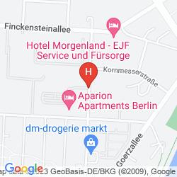 Mapa APARION APARTMENTS BERLIN