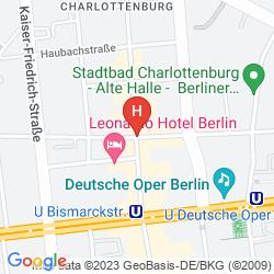 Mapa SMART STAY HOTEL BERLIN CITY - HOSTEL