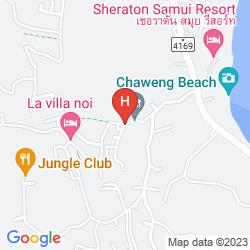Mapa FLORAL HOTEL POOL VILLA KOH SAMUI