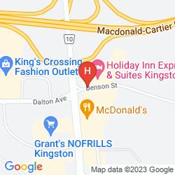 Mapa RAMADA KINGSTON HOTEL AND CONFERENCE CENTER