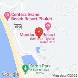 Mapa MANDARAVA RESORT AND SPA KARON BEACH