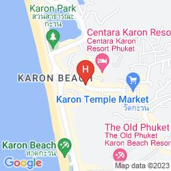 Mapa UNOTEL KARON BEACH