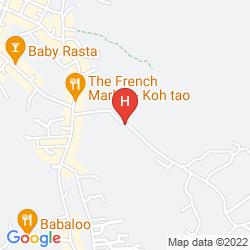 Mapa KOH TAO GARDEN RESORT