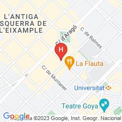 Mapa AXEL HOTEL BARCELONA & URBAN SPA- ADULTS ONLY