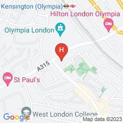 Mapa ACCESS KENSINGTON OLYMPIA