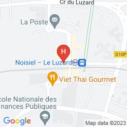 Mapa HIPOTEL MARNE LA VALLEE