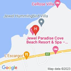 Mapa JEWEL PARADISE COVE BEACH RESORT AND SPA ALL INCLUSIVE